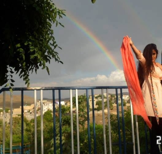 In this undated image from the 'My Stealthy Freedom' Facebook page, an Iranian woman takes a photo without a headscarf.