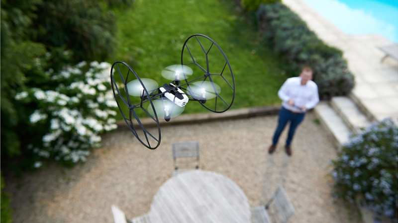 Parrot uses the same flight control scheme from the AR.Drone with the Rolling Spider. (Parrot Photo)
