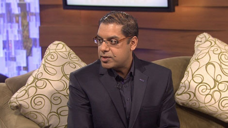 Chriopractor Dr. Gohar Sheikh offers tips on how to alleviate holiday stress. Dec. 5, 2011. (CTV)