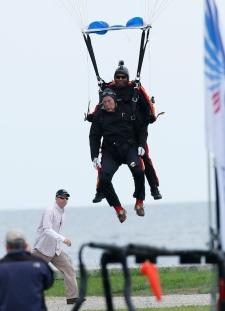 George H.W. Bush parachute jump