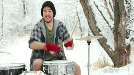 Sean Quigley's version of Little Drummer Boy is getting multiple hits on YouTube.