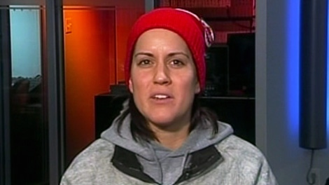 Mary Spencer, a Canadian boxing champion appears on Canada AM, Tuesday, Dec. 6, 2011.