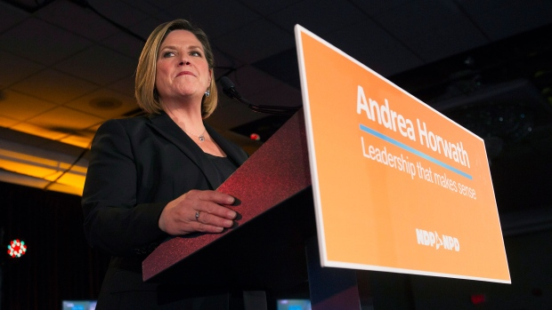 Andrea Horwath thanks supporters