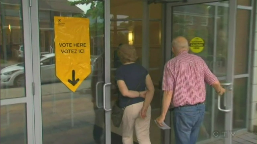 Voters vote in Ontario election