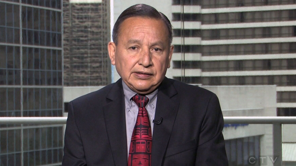Grand Chief Stewart Phillip speaks with CTV Question Period about the Northern Gateway pipeline on Sunday, June 15, 2014.