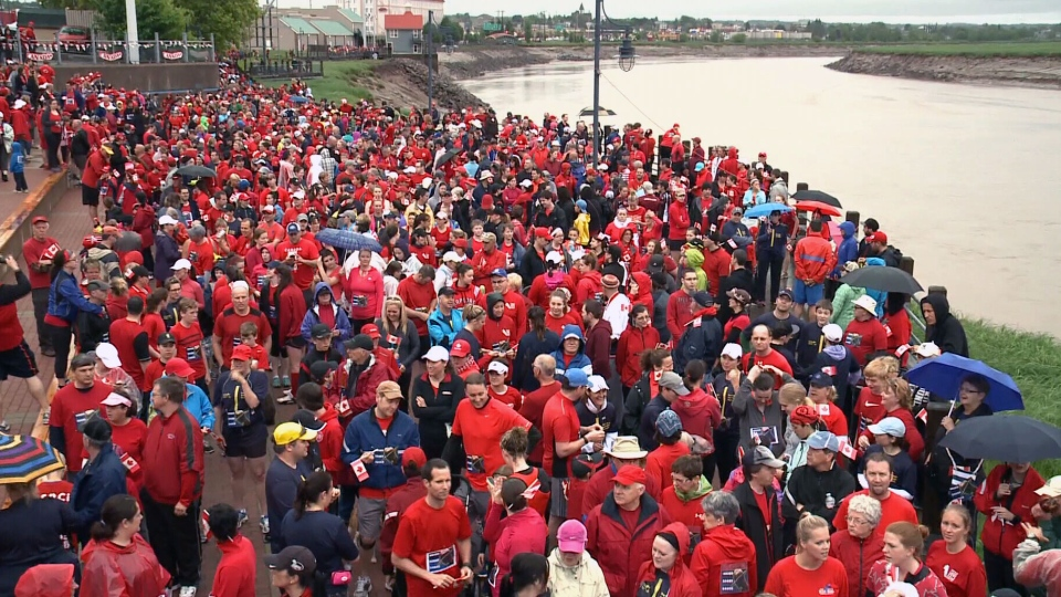 Thousands of people participated in the '3km Run for 3 Fathers: RCMP Memorial Father's Day Run' in Moncton on Sunday, June 15.