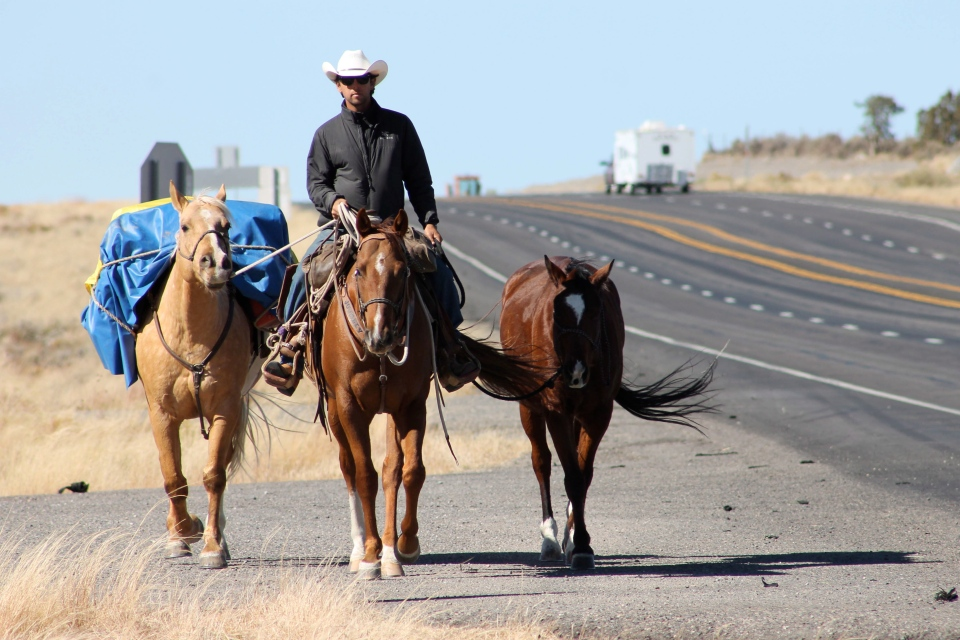 Canadian cowboy rides from Calgary to Brazil