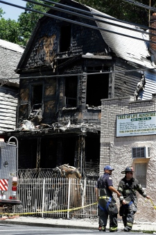 Mom, son on Father's Day visit die in fire