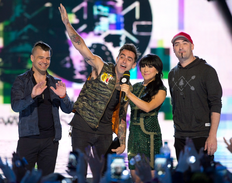 17b853bfb3c9 Hedley accept their MMVA at the 2014 Much Music Video Awards in Toronto on  Sunday June 15