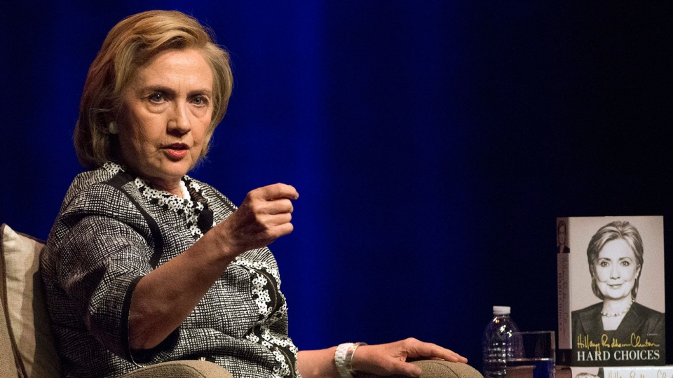Hillary Rodham Clinton speaks at an event to discuss her new book in Washington, Friday, June 13, 2014. (AP / Molly Riley)