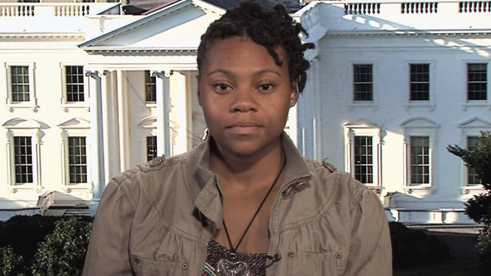 Rashema Melson appears on Canada AM from Washington D.C., Monday, June 16, 2014.