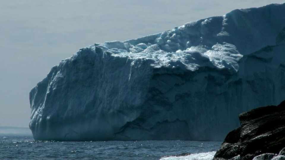 Massive blocks of ice float closer to shore in St. John's, Newfoundland (Twitter / Kathistacey)