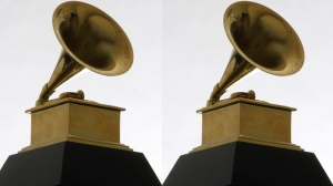 A Grammy Award statue is photographed on Dec. 9, 2008. (AP / Charles Rex Arbogast)