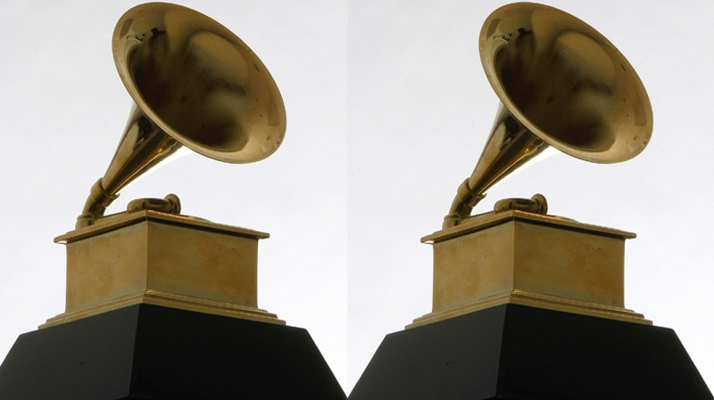 A Grammy Award statue is photographed on Dec. 9, 2008 . (AP / Charles Rex Arbogast)