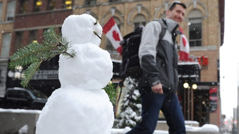 Are you dreaming of a white Christmas? Well, your dreams may be dashed, climatologist Dave Phillips says. (Sean Kilpatrick / THE CANADIAN PRESS)