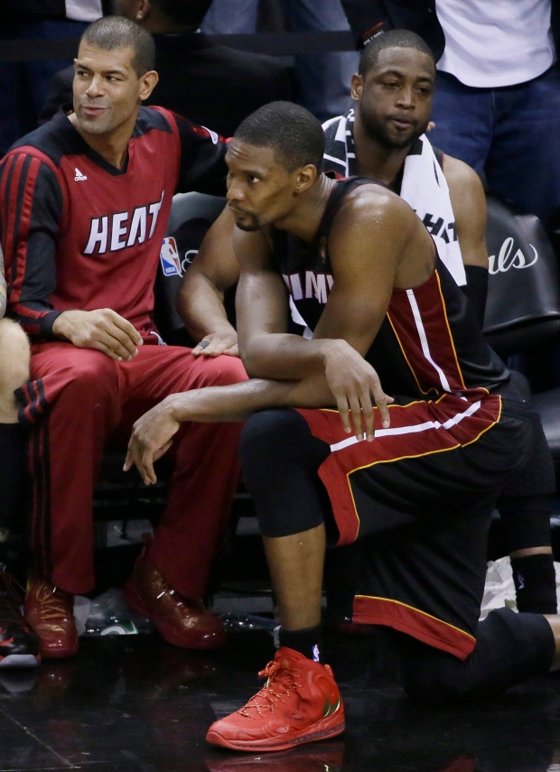 Bosh says year was a grind, but hopes he, James and Wade stay together | CTV News
