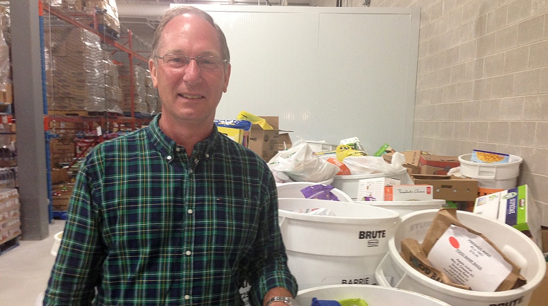 Peter Sundborg, executive director of the Barrie Food Bank, is seen in this undated photo. (CTV News Barrie)