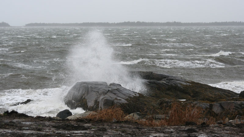 MyNews contributor Michael Hopkins shared this photo of waves crashing at high tide in Shag Harbour, N.S., on Thursday, Dec. 8, 2011.