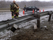 Weather bomb Atlantic, snow storm, traffic crash