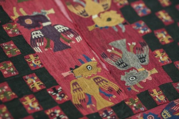 Paracas textile poncho