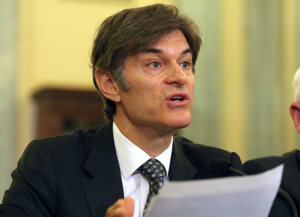 Dr. Mehmet C. Oz testifies on Capitol Hill in Washington on Tuesday, June 17, 2014  before the Senate subcommittee on Consumer Protection, Product Safety, and Insurance. (AP / Lauren Victoria Burke)
