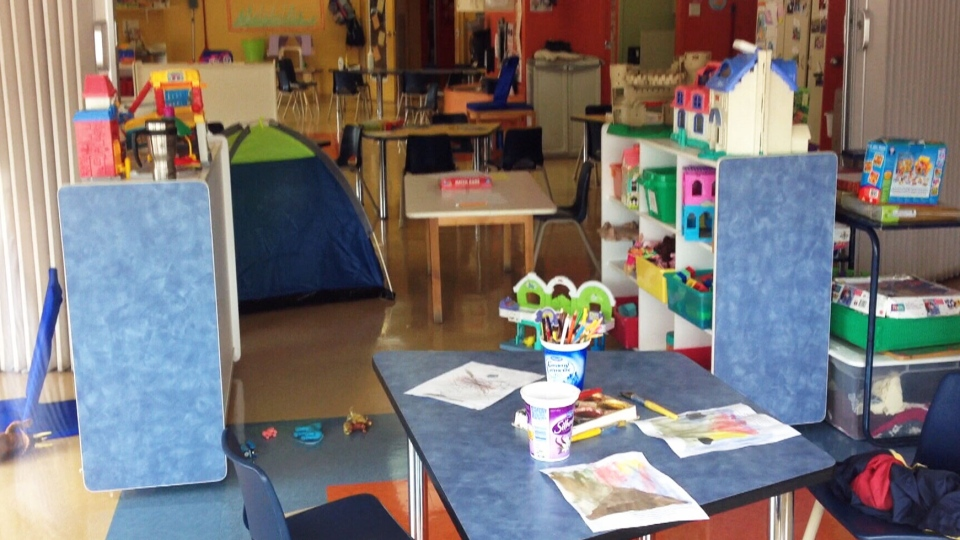 Les Petits Explorateurs daycare in St. Eustache, Que. Dozens of children at the daycare were taken to hospital following a carbon monoxide leak on June 17, 2014.