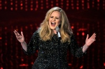 "Adele performing ""Skyfall"" during the Oscars at the Dolby Theatre in Los Angeles, Feb. 24, 2013. (AP / Chris Pizzello)"