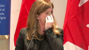 Health Minister Rona Ambrose speaks at a sarcoma cancer awareness event in Ottawa, June 17, 2014.
