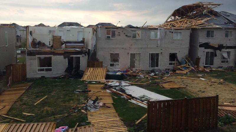 Tornado hits Angus, Ont.