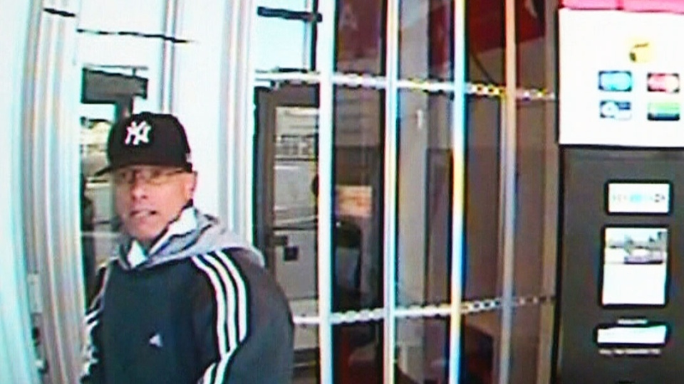 The 'vaulter bandit' is shown in a Toronto Police handout photo.