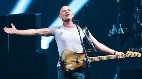 Sting performs at the Queen Elizabeth Theatre in Vancouver, B.C. Dec. 8, 2011. (CTV)