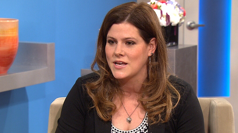 The Biggest Loser's Rachel Frederickson appears on Canada AM on June 19, 2014.