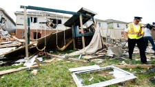 Tornado damage in Angus, Ont.