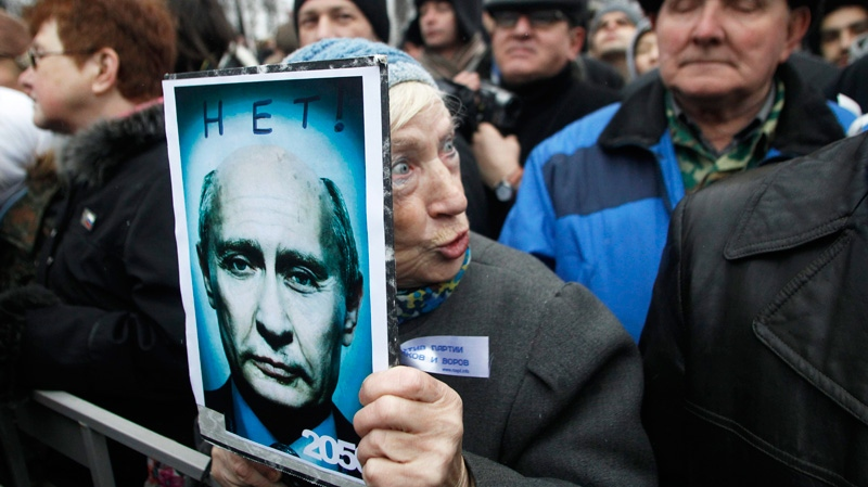 Demonstrators stage anti-Putin protests in Russia