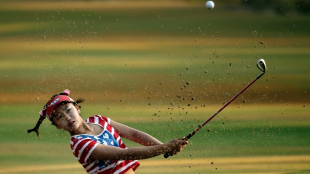 11-year-old Lucy Li at U.S. Women's Open