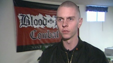 Kyle McKee, member of the neo-Nazi group Blood and Honour, told CTV News he does not regret his crimes. Dec. 10, 2011. (CTV)