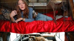 Darlene Knoll in a motor home in L.A.