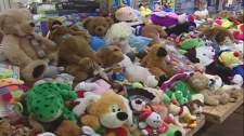 All these new toys will be donated to children in Montreal's women's shelters.