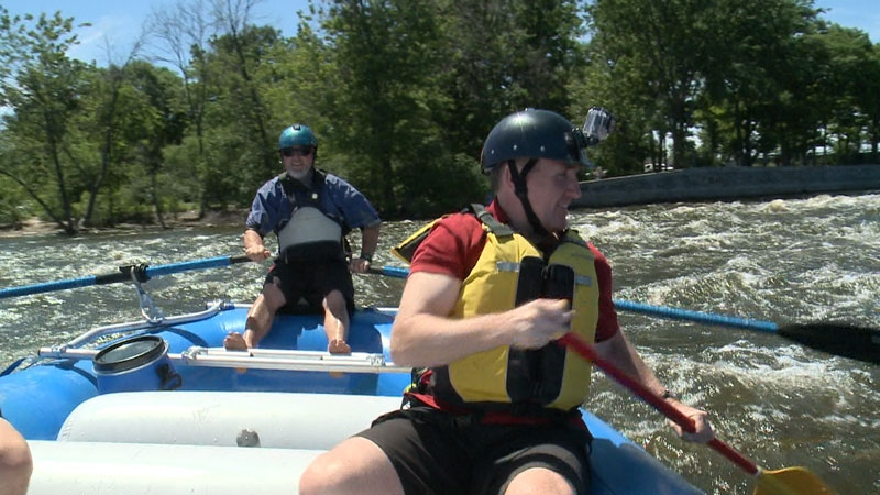 CTV's Eric Longley tries an urban rafting adventure in Ottawa, June 20th, 2014