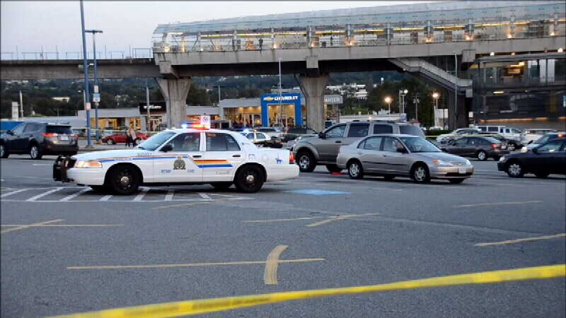 A man was hospitalized after being shot outside the Brentwood Town Centre Saturday evening. (CTV)
