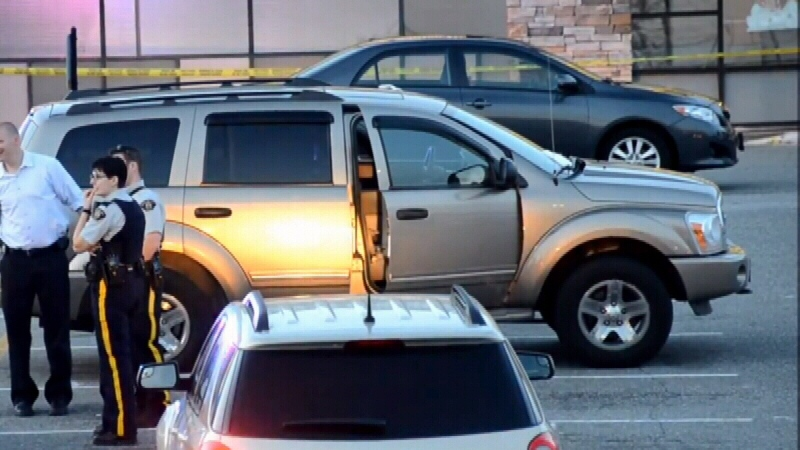Burnaby RCMP said the shooting victim was in this Dodge Durango when he was shot. (CTV)