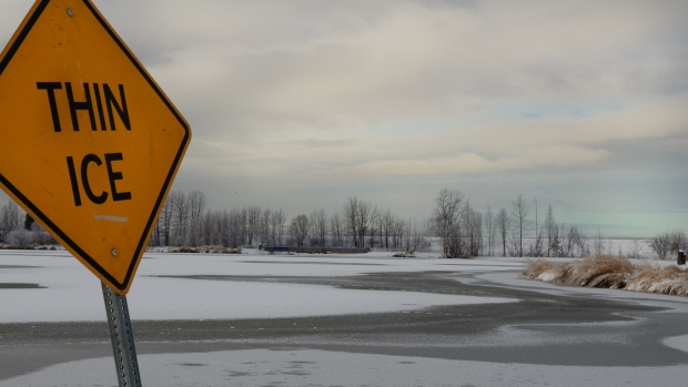 A boy and his grandfather are dead after falling through thin ice in the Eastern Townships.
