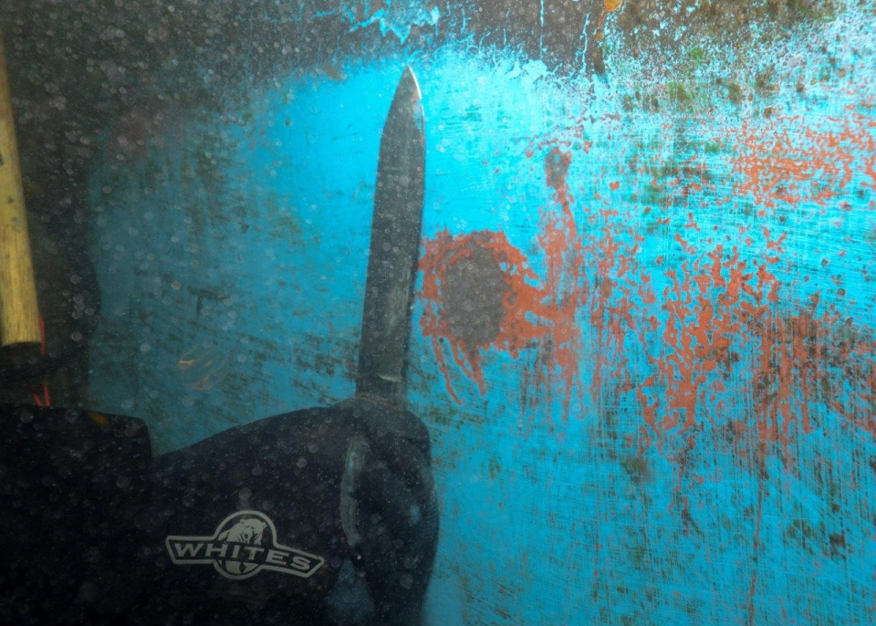 In this photo obtained by The Canadian Press through Access to Information, rust on the hull of HMCS Iroquois is pictured.