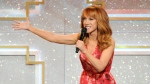 Host Kathy Griffin speaks on stage at the 41st annual Daytime Emmy Awards at the Beverly Hilton Hotel, in Beverly Hills, Calif. on Sunday, June 22, 2014. (AP / Chris Pizzello / Invision)