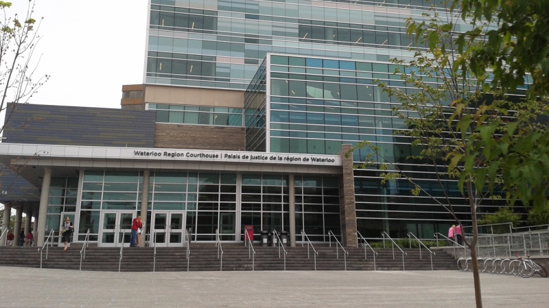 The Region of Waterloo courthouse is seen in Kitchener, Ont., on Monday, June 23, 2014. (Terry Kelly / CTV Kitchener)