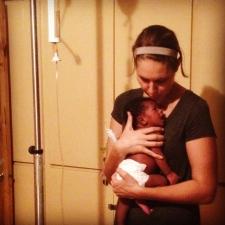 Dr. Jennifer Halverson and baby