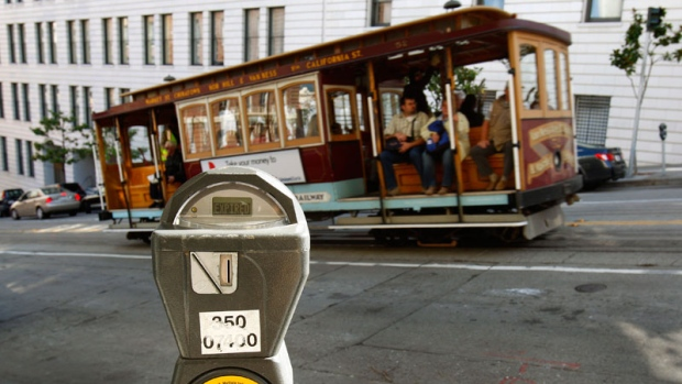 A parking meter in San Francisco