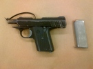 A Cobra Enterprises .380 semi-automatic handgun seized from a home on Allen Place is seen in this image released by the London Police Service on Tuesday, June 24, 2014..