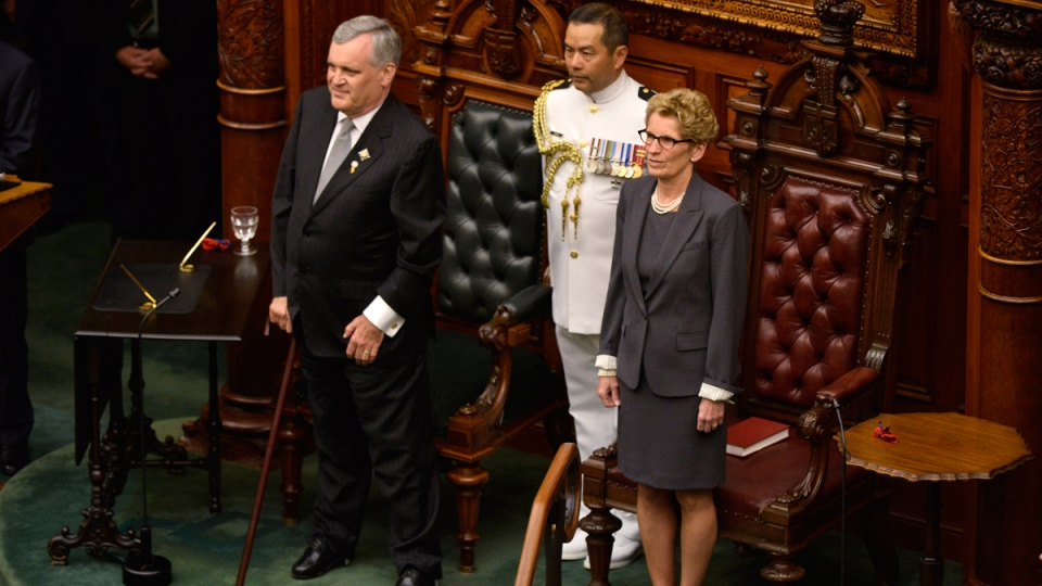 Premier Kathleen Wynne takes the oath of office