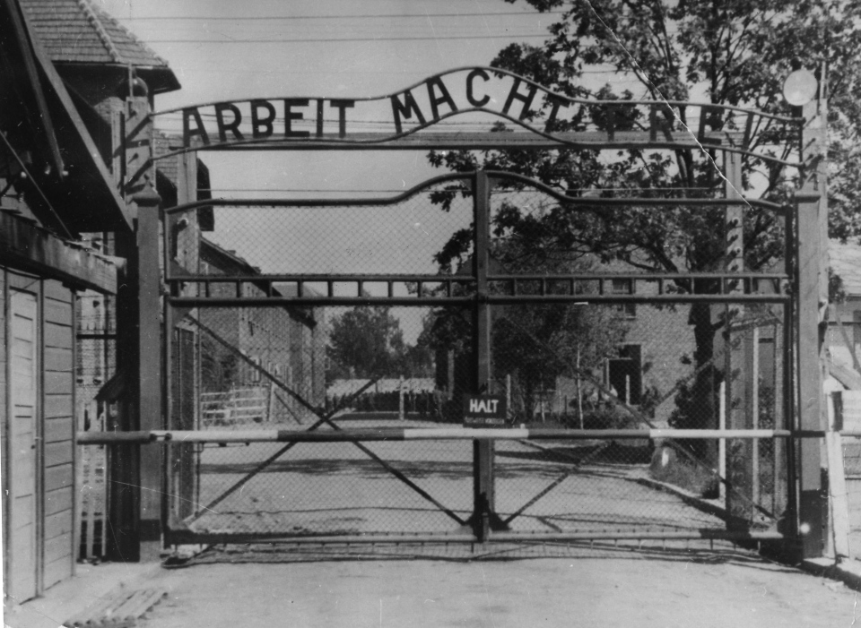 Undated file image shows the main gate of the Nazi concentration camp Auschwitz I, in Poland. (AP)